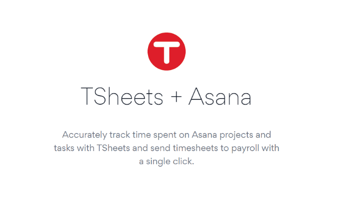 Our ASANA TSheets integration is now listed on the ASANA integrations page