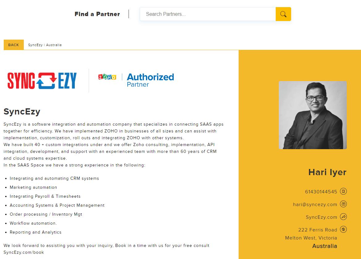 ZOHO-Partner-Profile