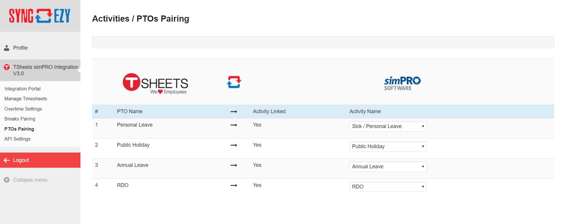 PTOs-Pairing