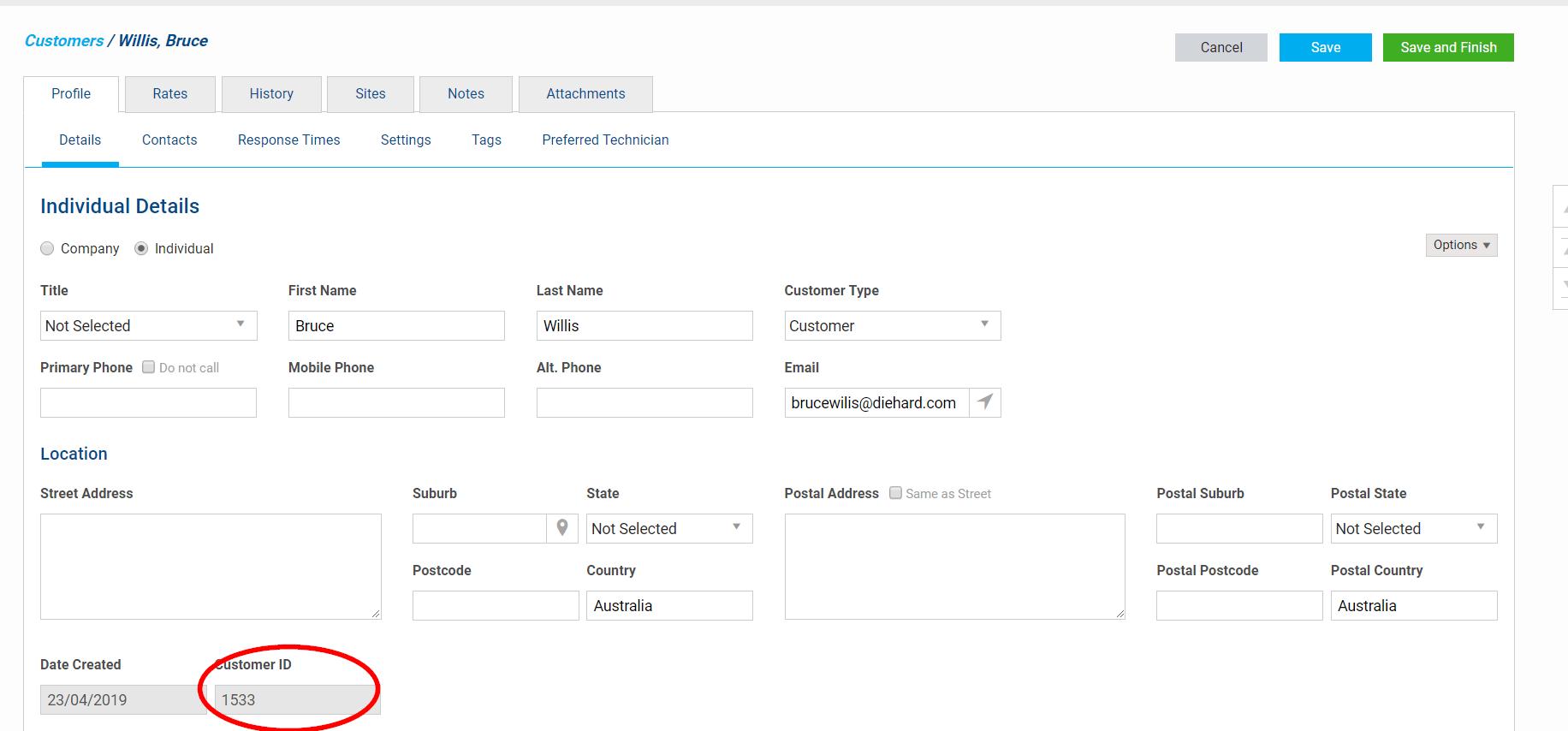 Customer-in-simPRO-1